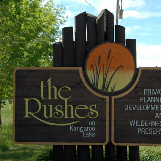 The Rushes sign